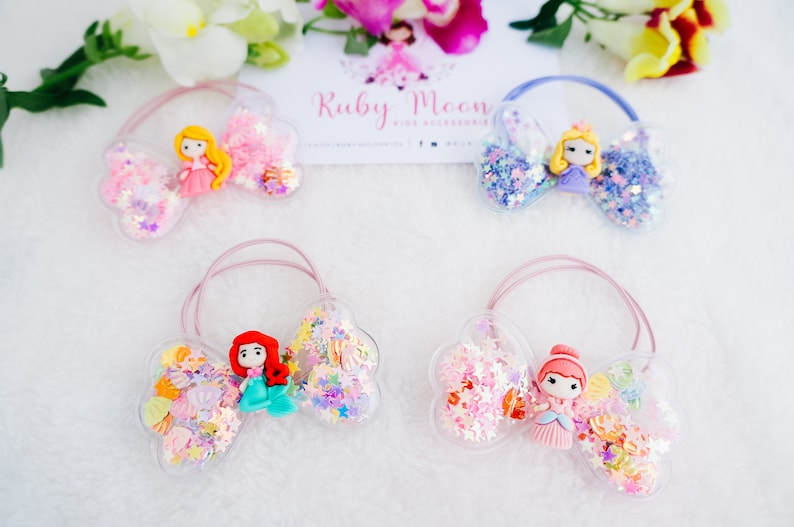 birthday gift for little girl Cute princess hair tie glitter butterfly wings princess party confetti shaker party favours