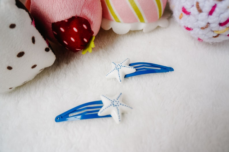 hair clip for beach Cute Star Fish hair clips sea animal hair accessory for girl baby fringe clip summer hair clip cute sea shell