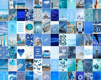 Blue Collage Kit Etsy Are you looking for inspiration for wallpaper?navigate here for cool wallpaper inspiration. blue collage kit etsy