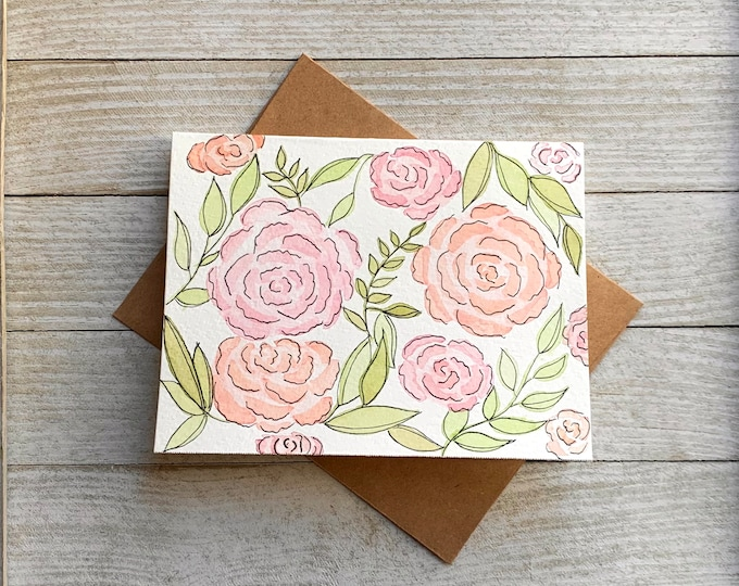 Floral Watercolor Greeting Card