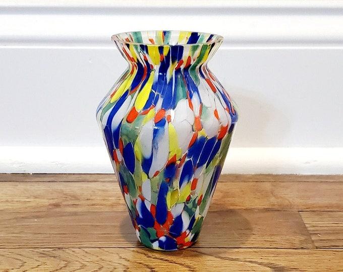 Colorful Art Glass Vase