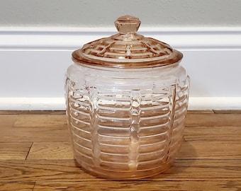 90/'s Anchor Hocking Pillsberry Glass Cookie Jar