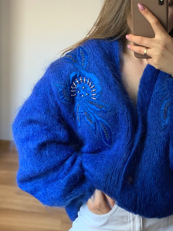 Vintage hand made mohair cardigan