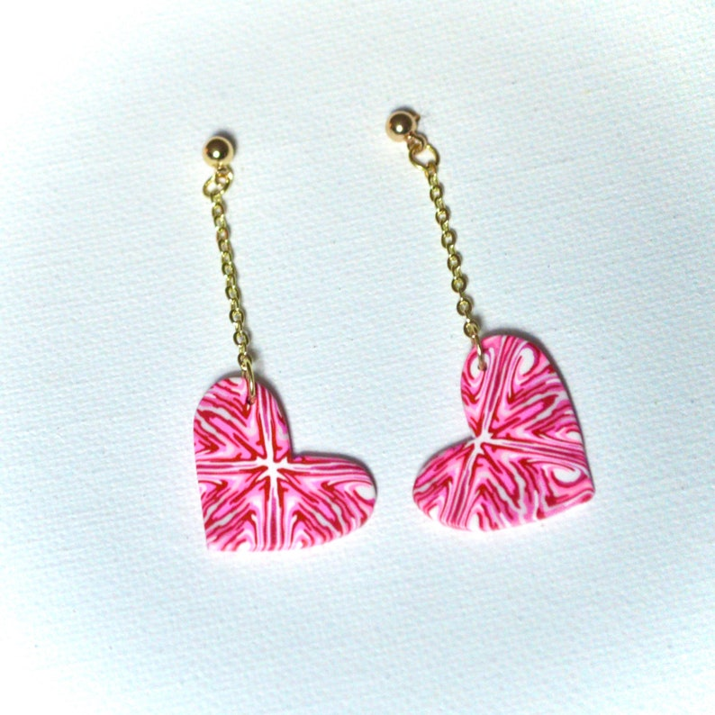 Valentine\u2019s Day Heart Drop Earrings
