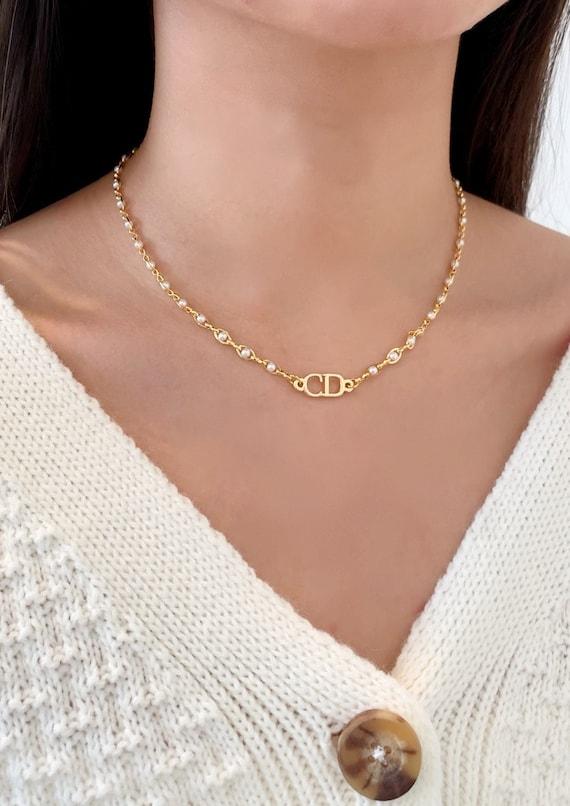Christian Dior Gold Pearl Choker