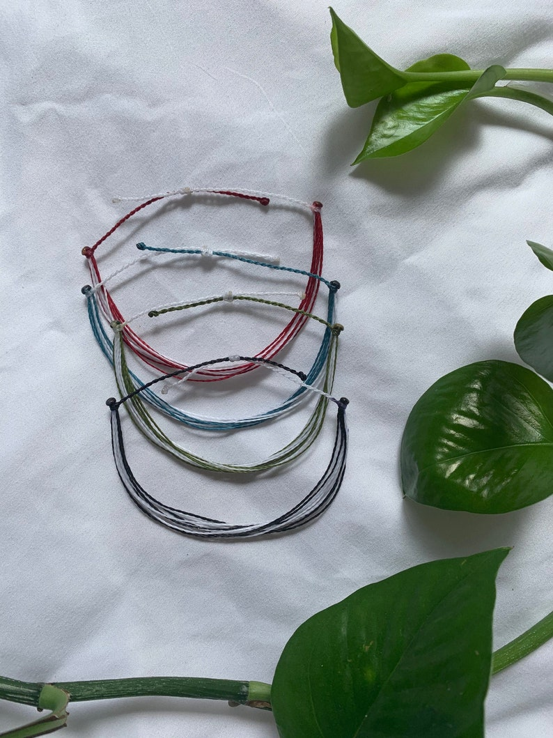 White and Colored 10 Strand Bracelet