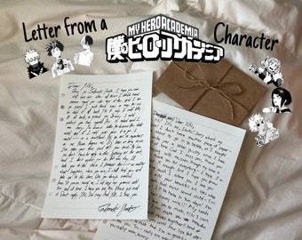 Letter from a My Hero Academia Character (READ DESC)