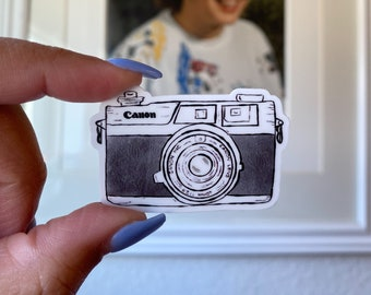 Water Bottle Vintage Canon Camera Matte Sticker Waterproof Decal Matte Sticker for Laptop and Tumbler Cup MacBook Phone Case