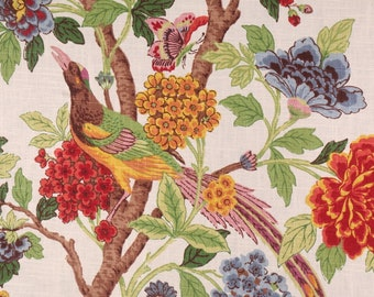 """Richloom Whippoorwill Summer Linen Fabric by the Yard Yardage Use for Light Upholstery, Drapery, Curtains, Pillows, One Piece Appx 90"""" long"""