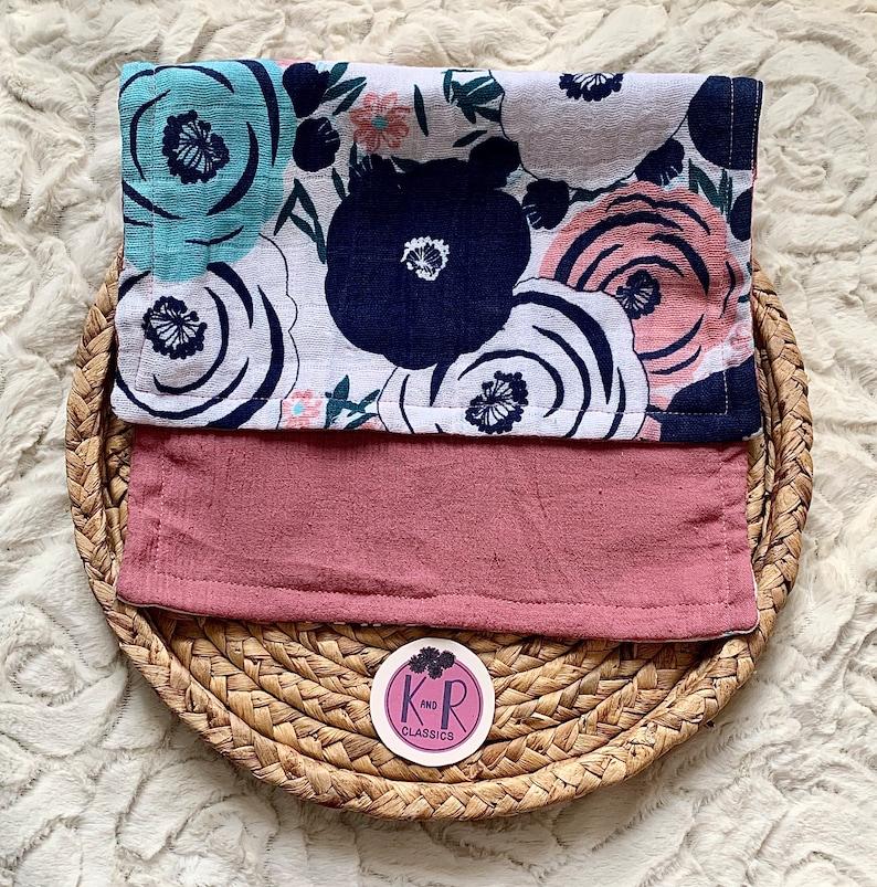 Pretty Poppies Muslin Burp Cloths *2pk*