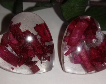15mm or 18mm circle red rose filled resin studs