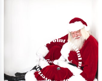 Santa Overlay Santa digital backdrop Digital Santa Christmas Digital Download Santa Digital JPG on Transparent background with lantern