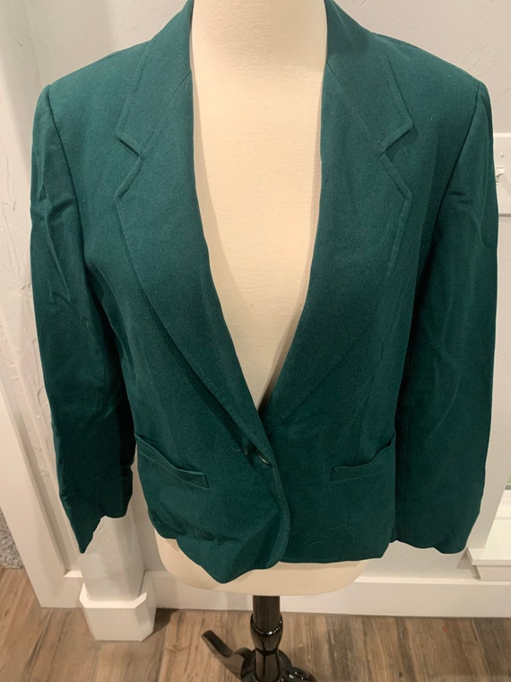 Vintage Pendleton Women's Green Blazer Jacket | Pe