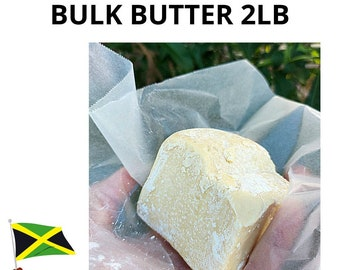 100% BULK 2lb Jamaican Raw Unrefined Cocoa Butter Cacao Bean - 32oz Cold Pressed Moisturizing Bar Vegan