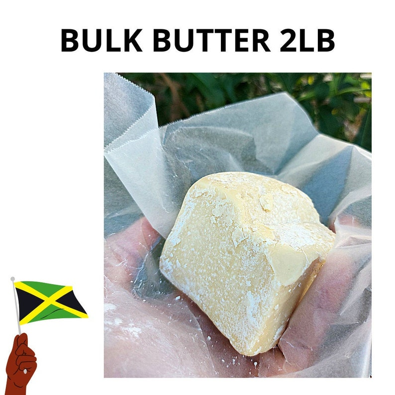 100% BULK 2lb Jamaican Raw Unrefined Cocoa Butter Cacao Bean  32 oz