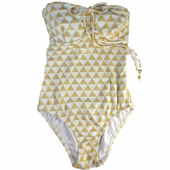 SHOSHANNA High Quality One Piece Gold Swimsuit
