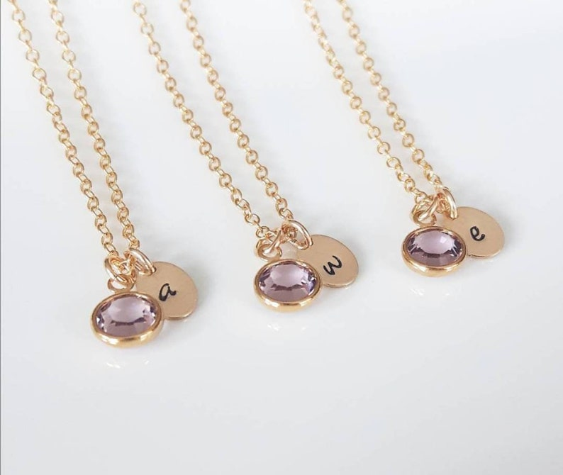 Bridesmaids Gifts ~ 14K Gold Filled Personalized  Initial Necklace ~ Jewelry Canada ~ Free Shipping Canada