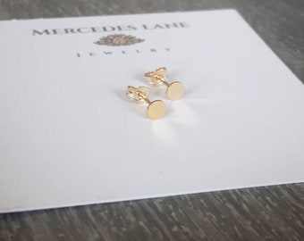 14K Gold Filled Dot Micro Stud Earrings ~ Tiny Stud Earrings ~ Trendy Jewerly ~  Jewelry Canada ~ Free Shipping Canada