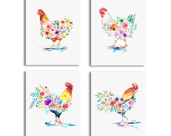 Rooster Art Print Etsy
