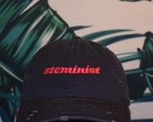 Steminist Distressed Dad Hat