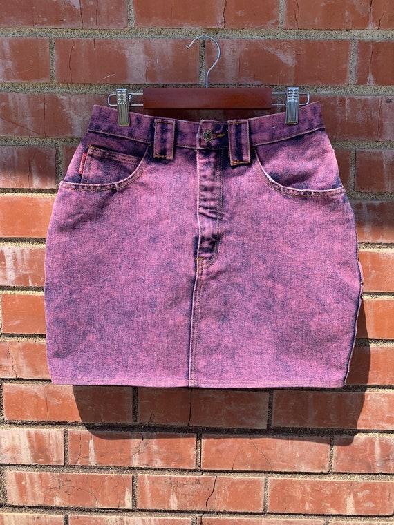 Vintage 80s/90s Studebaker Denim Pink Skirt
