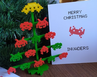 Space Invaders Desk Christmas Tree (3 pieces)