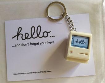 Apple Macintosh keychain - Retro computers