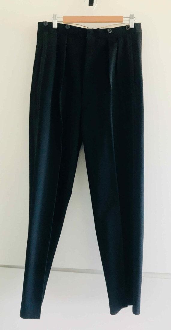 Vintage Men's Black Trousers Original Evening 30s