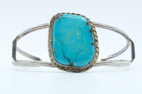 Sterling Silver Turquoise Vintage Navajo Cuff