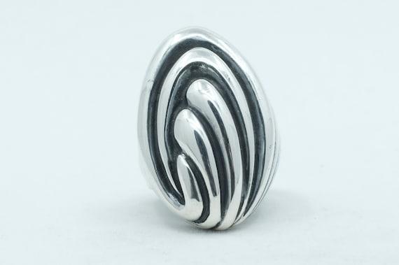 Sterling Silver Modernist Ring