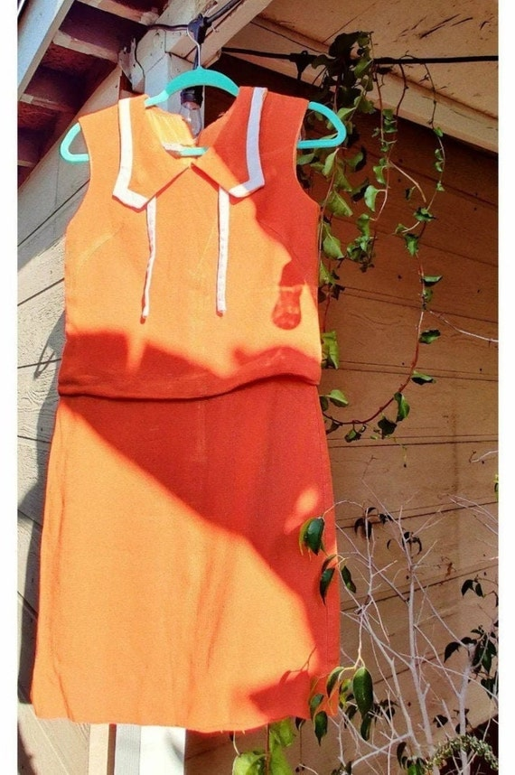 Tangerine Mod Dress