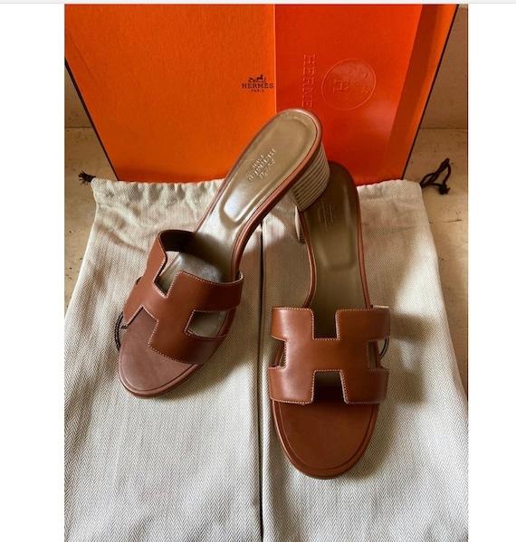 Authentic Hermes Oasis Brown Sandal 41