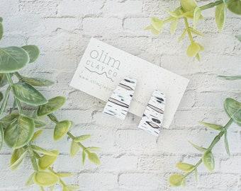 Birch Bark Studs   Polymer Clay Jewelry   Nickel Free   Titanium Posts   Statement   Hypoallergenic   Lightweight   Mother's Day Gift Idea