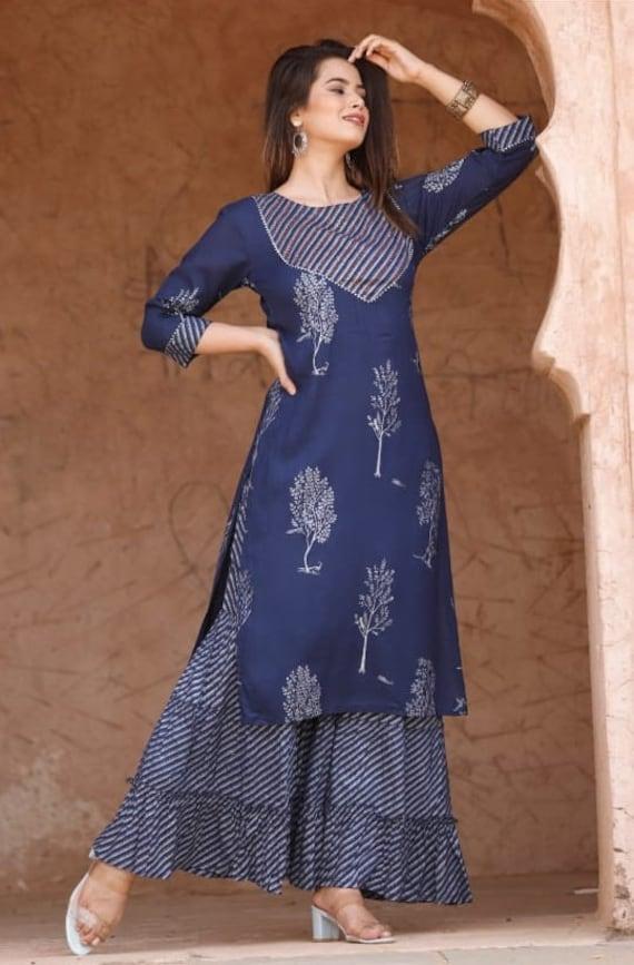 Designer Women Kurti With Skirt Set for Women and Girls Traditional Dresses Embroidery Kurti Kurta Set Party Wear Kurti Set
