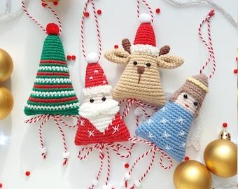 Christmas Crochet Decoration: Santa, Reindeer, Christmas Tree, Angel English Pattern, Holiday Decor Pattern, Christmas Decor for the Home