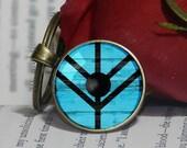Lagertha Shield Key Ring, Ragnar Lothbrok, Bjorn Ironside, Vikings Key Chain, Key Holder Gift, Keychain- Multiple Ring Sizes Available