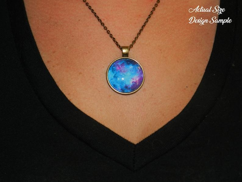 Velaris Night Court Glass Dome Multiple Chain Lengths Available ACOTAR Necklace Antique Bronze Style Pendant