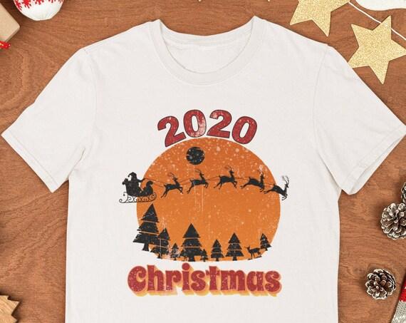 Christmas 2020 Shirt, Vintage Christmas Shirt, Christmas Gift, Merry Christmas, Quarantine Christmas, Christmas Tree, Cotton T-shirt