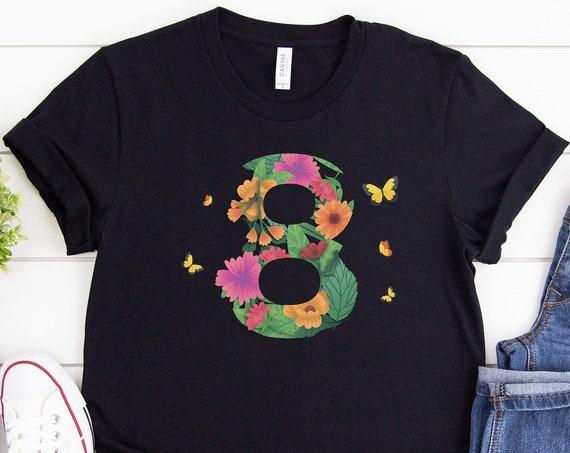 Woman's Day Shirt, Floral Shirt, Gift for Women, Botanical Shirt, Womens Shirt, Mom shirts, Gift for Mothers, Gift For Her, 8th March Shirt