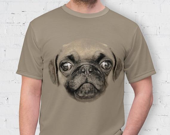 Pug Shirt, Dog Shirt, Pug Lover Gift, Dog Owner Shirt, Gifts For Dog Lovers, Adults Shirt, Pet Shirt, All Over Print Shirt, Dog Face Shirt
