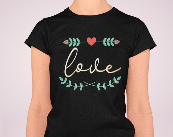 Love Shirt, Valentines Shirt, Valentines Day Shirt, Valentines Day Gift, Womens Shirts, Gift for Her, Cotton Shirt, Valentines Day Tee