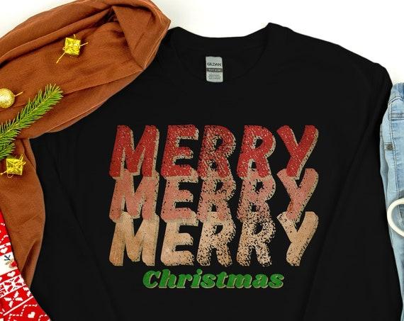 Merry Christmas Sweatshirt, Christmas Sweatshirt