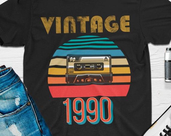 Vintage 1990 Shirt, 30th Birthday Shirt, 30th Birthday Gift, Mens Vintage 90s T-shirt, Womens Vintage Shirts, Retro Shirt, Vintage T Shirt