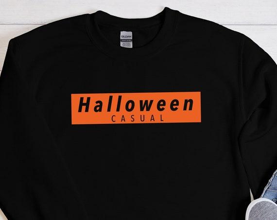 Halloween Casual Sweatshirt, Halloween Sweatshirt, Halloween Crewneck, Fall Sweatshirt, Halloween Gift, Gift For Halloween, Halloween Party