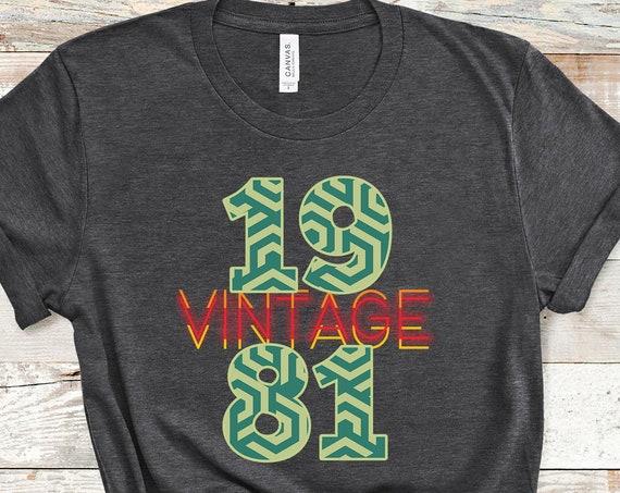 Vintage 1981 Shirt, 40th Birthday Shirt, 1981 Shirt, 40th Birthday Gift, 1981 Birthday Shirt, 40th Birthday, 40th Birthday Party, 40th Gift