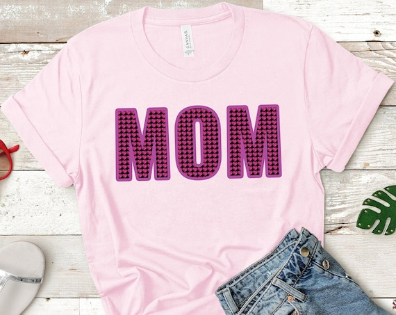 Mom Shirt, Mothers Day Shirt, Gift For Mom, Mothers Day Gift, Gift For Her, Hearts Shirt, Womens T-shirt, Mother Shirt, Cotton T shirt