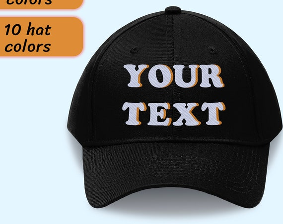 Custom Embroidered Hat, Custom Hat, Personalized Hat, Custom Dad Hat, Custom Embroidery Hat, Custom Baseball Cap, Custom Text Dad Hat