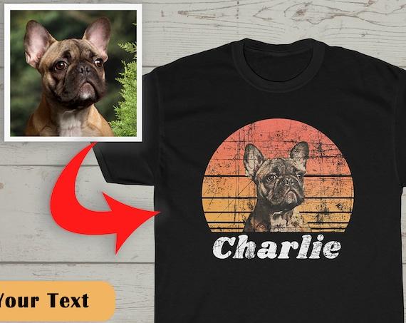 Custom Dog Vintage Shirt, Custom Pet Shirt, Dog Lover Gift, Dog Lover T-Shirt, Personalized Shirts, Dog Owner Shirt, Dog Photo Shirt, S-5XL