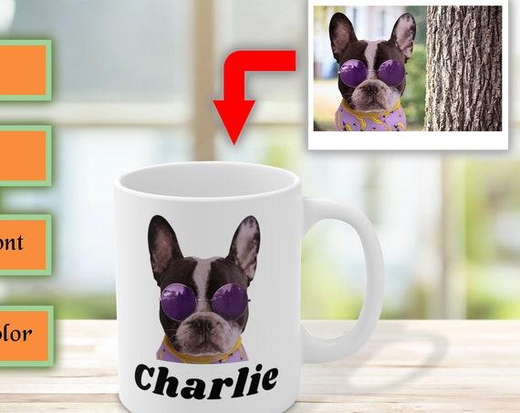 Custom Dog Mug, Custom Pet Mug, Personalized Dog Mug, Dog Lover Gift, Dog Coffee Mug, Dog Owner Gift, Ceramic Mug, Custom Photo Mug, Dog Mug