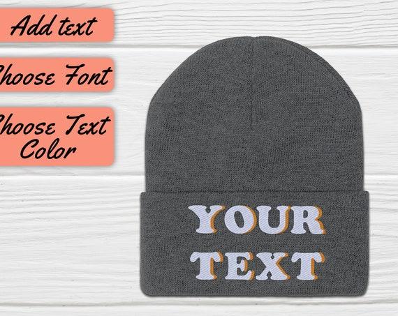 Custom Beanie, Embroidered Beanie, Personalized Beanie, Custom Beanie Hat, Custom Hat, Knit Beanie, Custom Gift, Custom Embroidery Hat
